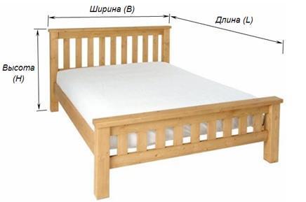 Размеры двуместной кровати